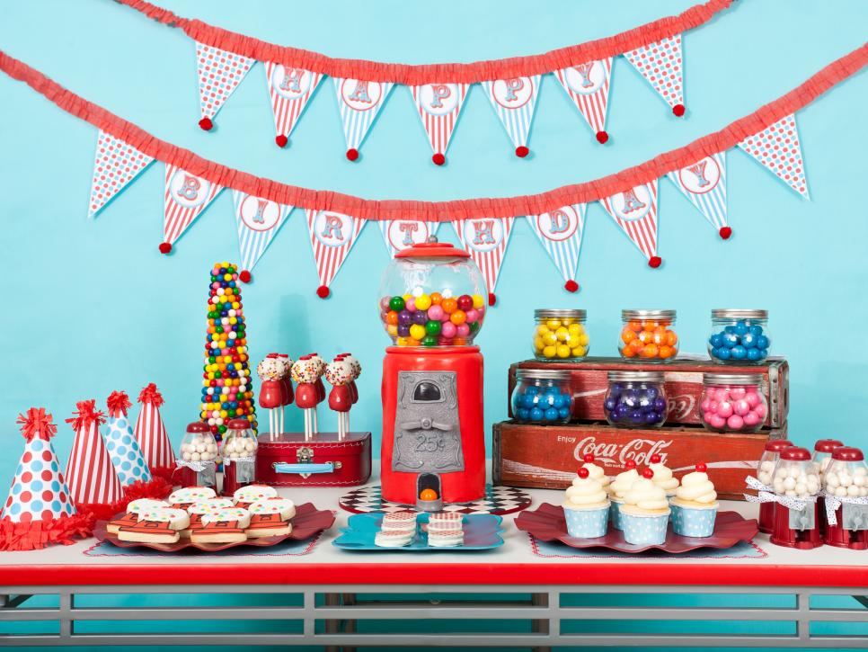 Kids' birthday party decorations